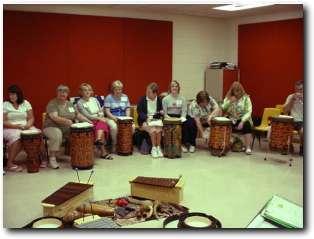 drummers in classroom